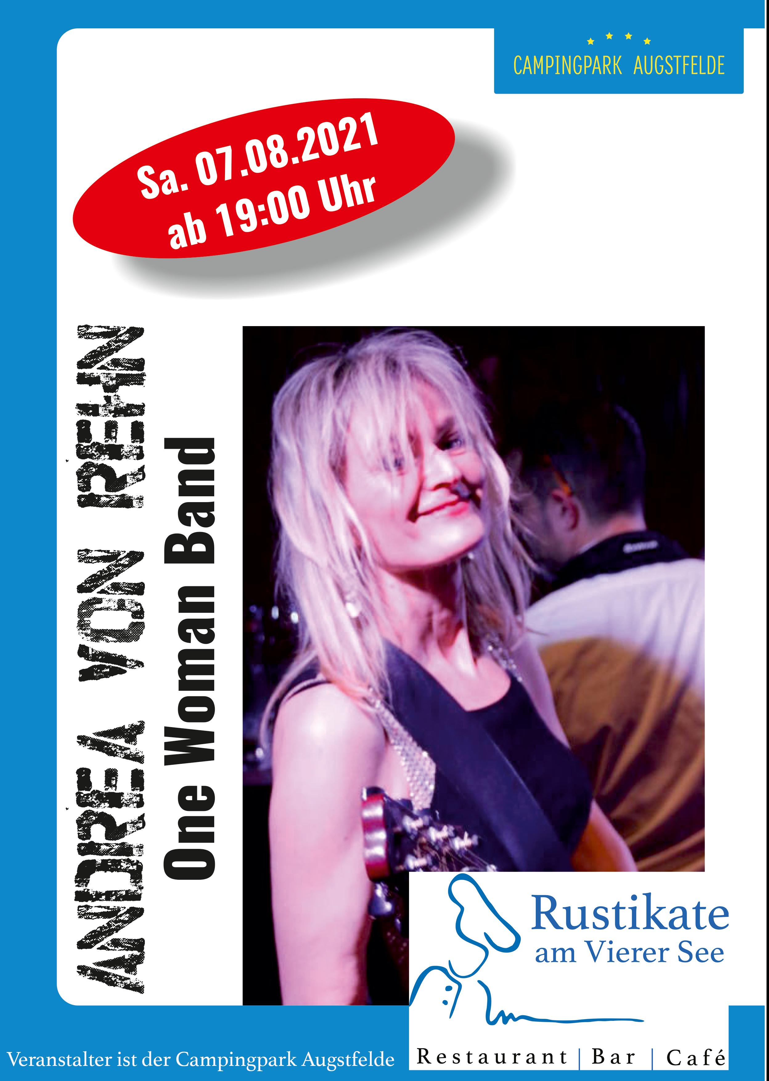 Live vor der Rustikate: Andrea von Rehn